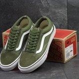 Кеды мужские Vans Old Skool dark green
