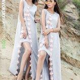Оригинальное летнее платье «Бонжур»