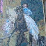 Картина крестом ДЕВУШКА На Лошади