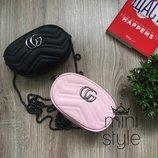 Сумка на пояс бананка сумочка чёрного пудровый розовый cross body цвета