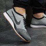 Кроссовки мужские сетка Nike Flyknit Racer gray