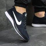 Кроссовки мужские сетка Nike Flyknit Racer dark blue