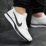 Кроссовки мужские сетка Nike Flyknit Racer white