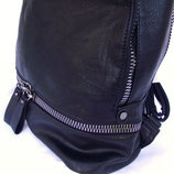 Большой городской фирменный рюкзак стильный вместительный мужской или женский черный эко кожа