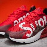 Кроссовки мужские Nike Supreme Air270, красные 13582 , р. 40 - 45