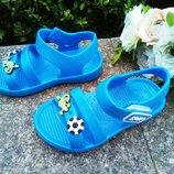 Пляжные босоножки для мальчика размер 25-29 голубые