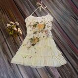 Воздушное платье Promod с воланами,р.М
