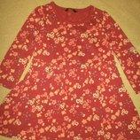 Трикотажное платье george 1-1,5г,