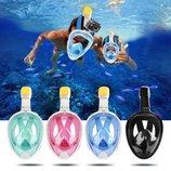 Маска для снорклинга, подводного плавания ныряния все цвета,размеры
