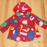 Красивая куртка-ветровка Next для девочки 18-24 месяцев. 86-92 см