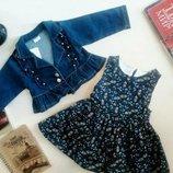 Стильный комплект, платье и пиджак для девочки