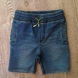 Супер стильные шорты H&M. 4-5-6 лет. Трикотаж под джинс. Шортики, штаны, джинсы.