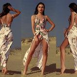 Женская длинная пляжная юбка 317 Софт Розы Дольче .