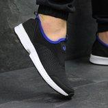 Кроссовки низкие сетка Adidas black/blue