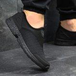Кроссовки низкие сетка Adidas black