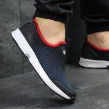 Кроссовки низкие сетка Adidas dark blue