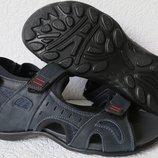 Ессо biom Мужские сандалии синяя кожа качественная реплика босоножки Экко биом