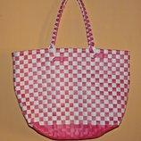 Плетённая сумка-корзина