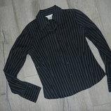 S/М Zara woman Черная блузка,рубашка в полоску