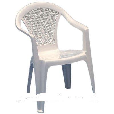 Пластиковое кресло Ole белое