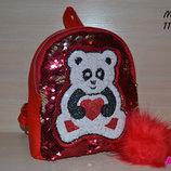Детский рюкзак с пайетками Панда , Турция