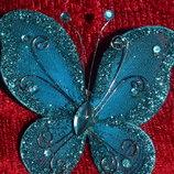 Брошь бабочка-украшение для одежды, аксессуаров, подарков, интерьера