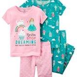 Новые комплекты пижам девочке 7Т, 8Т, 10Т, 12Т от Carters, Сша
