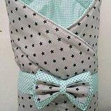 Конверт-Одеяло на выписку новорожденного, трансформер-