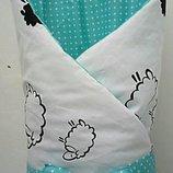 Гипоаллергенный конверт одеяло, конверт плед на выписку из роддома