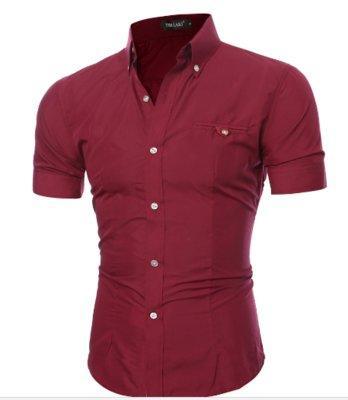 Рубашка мужская с коротким рукавом 6 цветов код 52