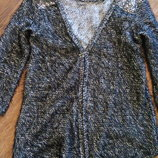 Пушистый кардиган кофта с паетками Zara