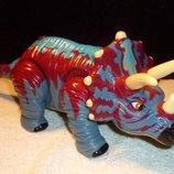 большой интерактивный Трицератопс Mattel Сша оригинал клеймо