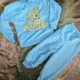 Пижама махровая теплая, Пижамка на мальчика, махра зефирка, р.80-86-92-98-104-110-116