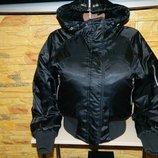 Куртка женская теплая укороченная черная Nike размер 44-46