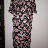 р XL Made in Turkey коттон новое домашнее платье