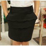 Школьная юбка Рюша- стильная юбка для девочки