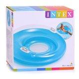 Надувное Кресло INTEX 5888 круг для плавания с сетчатым дном и ручками Sit n Lounge Ø 119 см