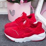 Женские кроссовки Nike Huarache красные, черные, пудра и мята