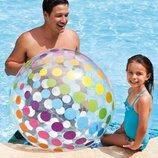 Мяч надувной Intex Ø 107 см Надувной мяч Большой для игры Интекс