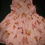 Платье с туфельками Некст 2-3г,