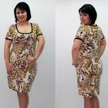 Платье масло c рукавом, большой размер, 56-58-60 снизили цену