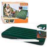 Intex Матрас надувной туристический Downy Bed Twin . Intex 66927