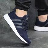 Кроссовки мужские сетка Adidas dark blue