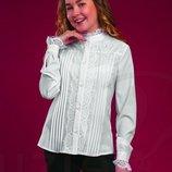 Блуза белая с кружевом Тм Suzie