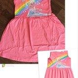 Платье/ сарафан h&m disney эльза яркое/нарядное на девочку 122-128см