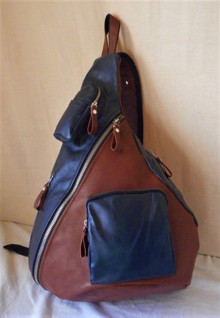 4d03f97e2992 Мужской кожаный тёмно синий коричневый рюкзак  2499 грн - мужские сумки в  Киеве, объявление №17493573 Клубок (ранее Клумба)
