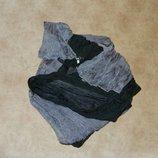 Новый тоненький прозрачный шарф платок палантин женский двух цветов черный с Серым