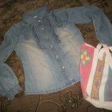 Джинсовая рубашка на девочкуGEORGE