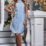 Нежное летнее Платье-Рубашка прямого покроя 44-50р
