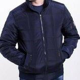 48-70 Демисезонная куртка. на легком утеплителе, Куртка мужская большого размера. бомбер мужской